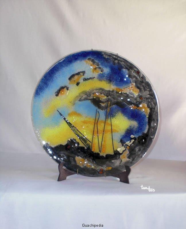 bandeja plato de vidrio fusing