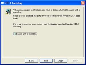 "Marcar: ""Enable UTF-8 encoding"""