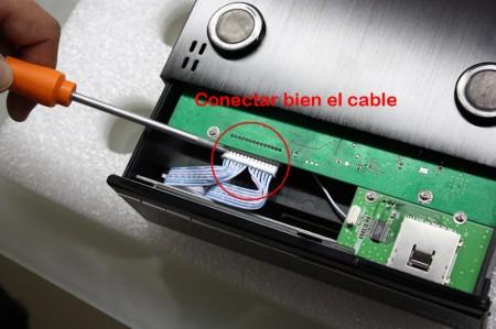 Conectar bien el cable marcado con el circulo rojo