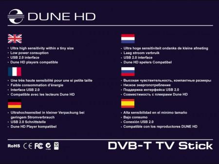 Caracteristicas Adaptador USB DVB-T para Dune 3.0