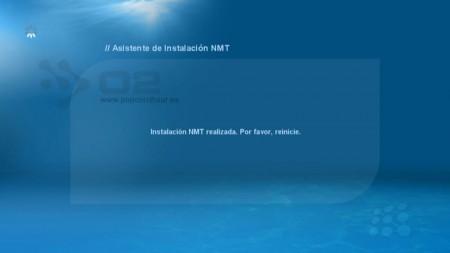 Termina la instalación y se reinicia el dispositivo NMT