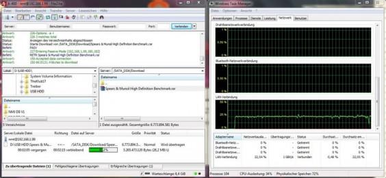 Velocidad de la red PCH A400: ftp