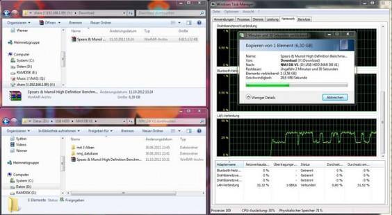 Velocidad de la red PCH A400: Samba