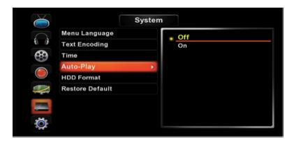 AutoPlay en HMR600