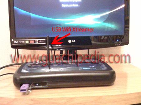 Antena USB-Wifi Xtreamer conectada en el A200