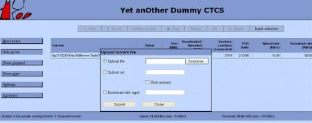 Pantalla configuracion Bittorrent desde el ordenador