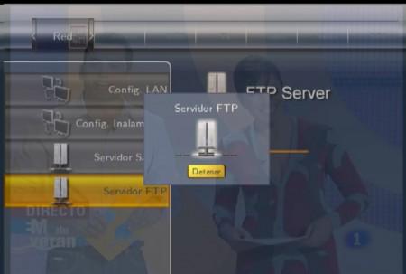 Con esta pantalla el FTP está activado