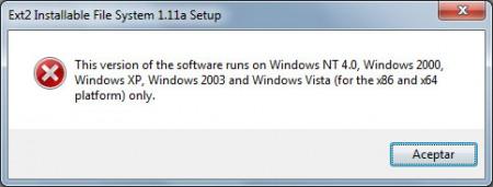 Error al instalar en Windows 7 FSDriver
